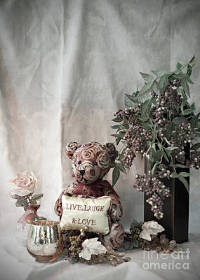 Photograph - Live, Laugh, Love Bear No. 2 by Sherry Hallemeier