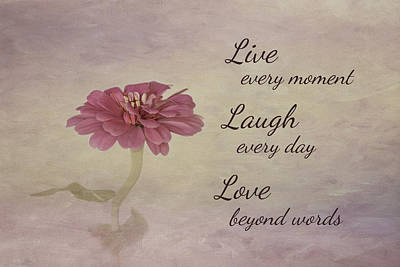 Contemporary Home Photograph - Live Laugh Love by Kim Hojnacki