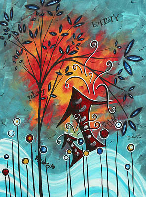 Lollipop Painting - Live Life II By Madart by Megan Duncanson