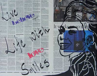 Mixed Media - Live Life With Smiles by Kruti Shah