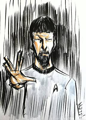 Drawing - Live Long And Prosper...... by Tu-Kwon Thomas
