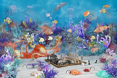 Surrealism Digital Art - Live Love Laugh by Betsy Knapp