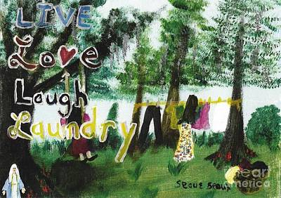 Immaculate Heart Painting - Live, Love, Laugh, Laundry by Seaux-N-Seau Soileau