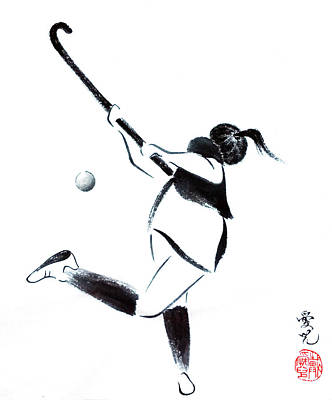 Painting - Live, Love, Play Field Hockey by Oiyee At Oystudio