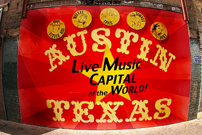 6th Street Photograph - Live Music Mural Of Austin by Andrew Nourse