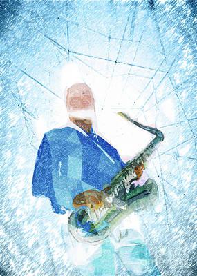 Live Music Poster Art Print by Konstantin Sevostyanov