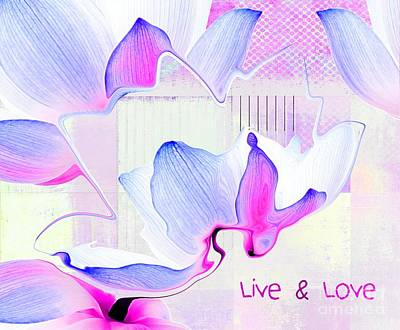 Digital Art - Live N Love - Absf14a by Variance Collections
