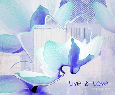 Blue Flowers Photograph - Live N Love - 43 by Variance Collections
