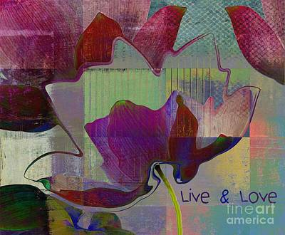 Digital Art - Live N Love - Absfl28b by Variance Collections