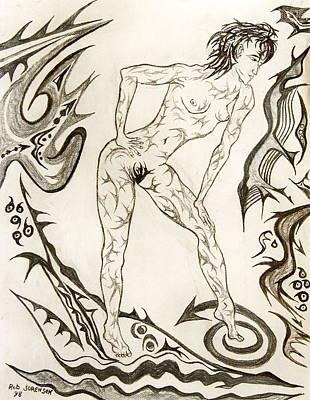 Live Nude 3 Female Art Print