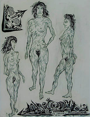 Live Nude 41 Female Art Print