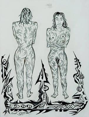 Live Nude 43 Female Art Print by Robert SORENSEN