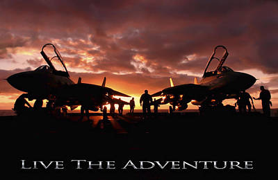 Live The Adventure Art Print by Peter Chilelli