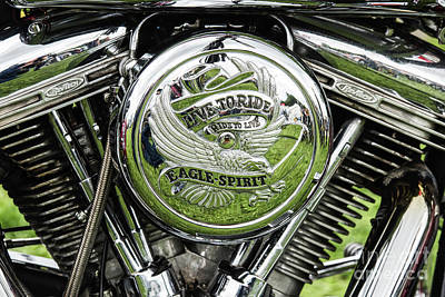 Photograph - Live To Ride Eagle Spirit by Tim Gainey