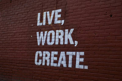 Live Work Create Art Print