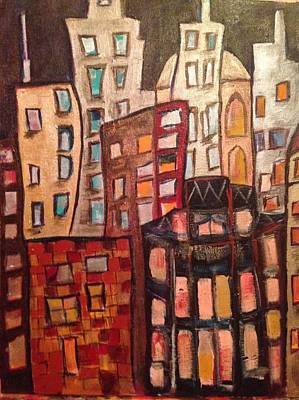 Cities Painting - Lively City 2 by Roxy Rich