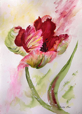 Painting - Lively Parrot Tulip by Bette Orr