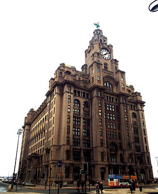 Scouse Photograph - Liver Building, Liverpool by Marrianne Baker