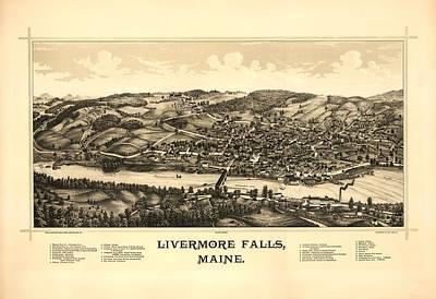 Livermore Falls Maine Art Print