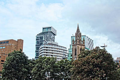 Photograph - Liverpool City Center - Atlantic Tower And Unity Buildings And Church Of Our Lady And St. Nicholas. by Doc Braham