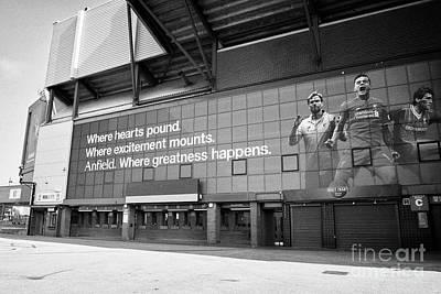 Liverpool Fc Anfield Stadium Liverpool Merseyside Uk Art Print by Joe Fox