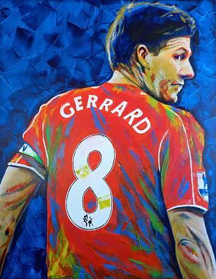 Messi Painting - Liverpool Legend Steven Gerrard by Scott Strachan