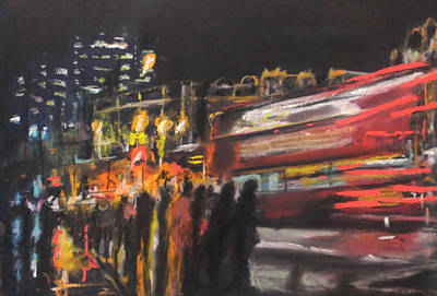 Drawing - Liverpool Street London by Paul Mitchell