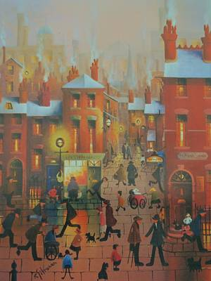 Streetscenes Painting - Liverpool Street Scene.the Doctors Surgery by Raymond Alfred Gilronan