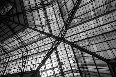 Photograph - Liverpool Street Station Glass Ceiling Abstract by John Williams