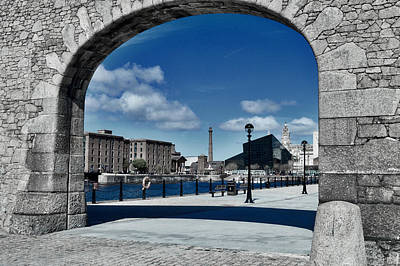 Basketball Patents - Liverpool through an arch by Colin Perkins