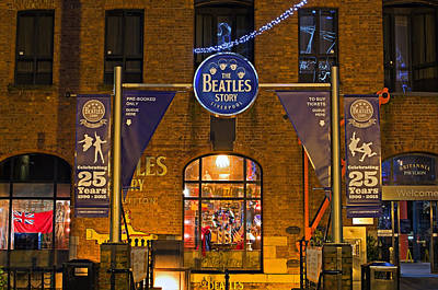 English Rock Groups Photograph - Liverpool Uk, December 16th 2015. Entrance To The Beatles Story  by Ken Biggs