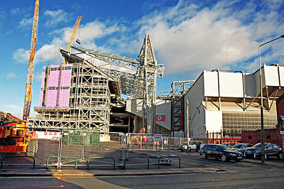 Liverpool Uk January 8th 2016. Construction Of A New Stand, Part Art Print