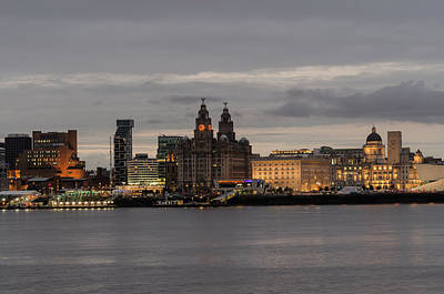 Photograph - Liverpool Waterfront At Night by Spikey Mouse Photography