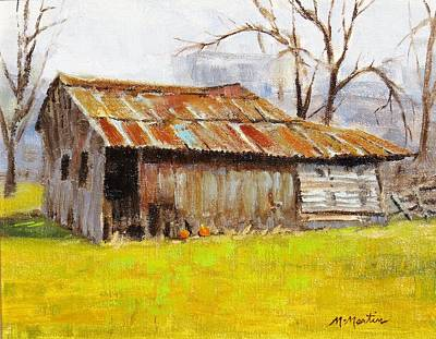 Mike Martin Painting - Livery Stable by Mike Martin