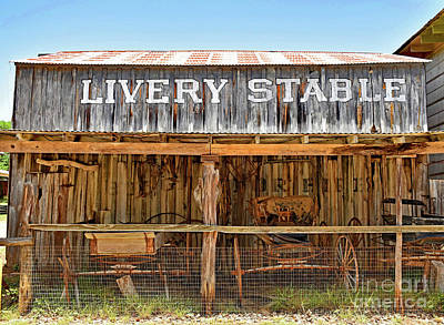 Livery Stable Photograph - Livery Stable by Ray Shrewsberry