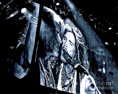 Aerosmith Photograph - Livin On The Edge. Aerosmith Live by Tanya Filichkin