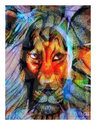 Goree Mixed Media - Living Among Lions by Fania Simon