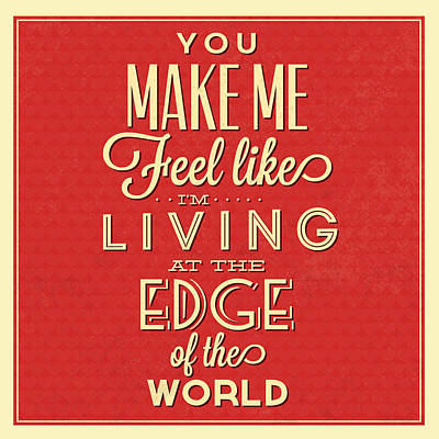 Living At The Edge Art Print by Naxart Studio