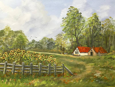 Painting - Living At The Farm by Dorothy Maier