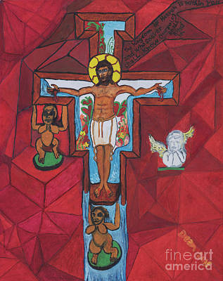 Painting - Living Christ Ascending by Dean Robinson