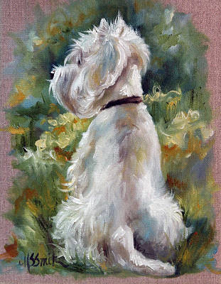 Dog Art Painting - Living Color by Mary Sparrow