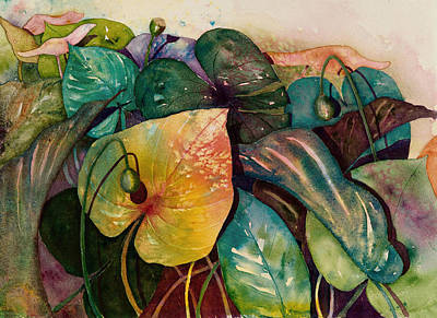 Philodendron Painting - Living Color by Renee Chastant