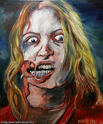 Living Dead Girl By Fabrice Martin Art Print by Fabrice MARTIN