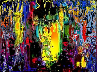 Pietyz Abstractz Artz World Painting - Living God by Piety Dsilva