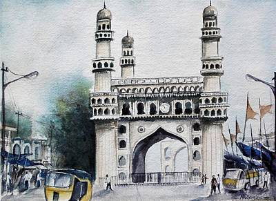 Living History Charminar Hyderabad Art Print