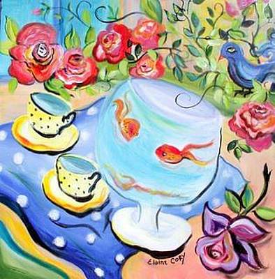Painting - Living In A Fish Bowl by Elaine Cory