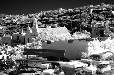 Photograph - Living In Mykonos Infrared by John Rizzuto