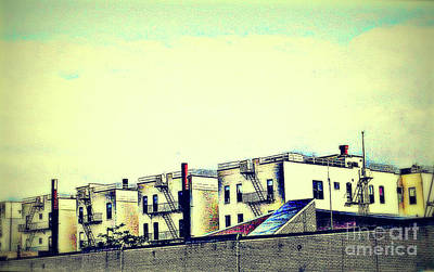 Photograph - Living In The City - Little White Houses All In A Row by Miriam Danar