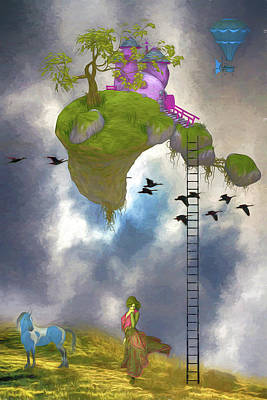 Digital Art - Living In The Clouds by John Haldane