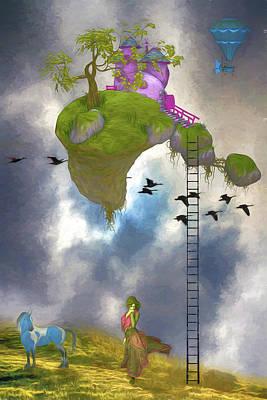 Digital Art - Living In The Clouds by John Haldane